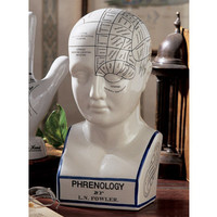 Porcelain Phrenology Head Statue - SP020