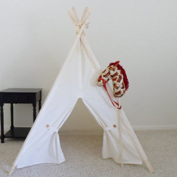 Muslin Kids Tent with Door Ties Teepee Play Tent, Tipi, Wigwam or Playhouse Pick your Muslin