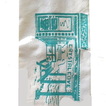 Crystal Cove Cottage #46 Flour Sack Dish Towels-Lt Turquoise