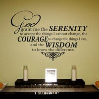 Serenity Prayer Vinyl Wall Art Decal