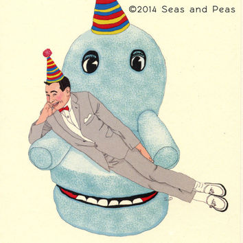 PEE-WEE HERMAN Birthday Card - Funny Birthday Card - Peewee Herman - Peewee Herman Card - Pee Wee's Big Adventure - Peewee's Playhouse