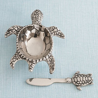 Turtle Dish With Knife | Gump's