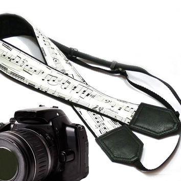 Original design Camera Strap. Music Camera Strap. DSLR / SLR Camera Strap.  For Sony, canon, nikon, panasonic, fuji and other cameras.
