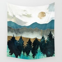 Forest Mist Wall Tapestry by spacefrogdesigns