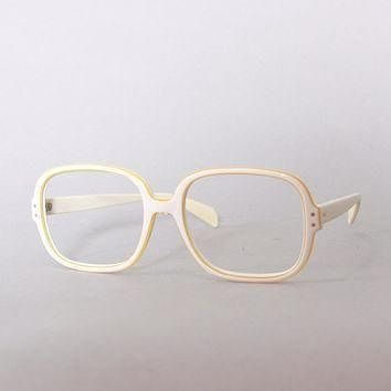 Tagre™ 60s RAY-BAN White Chandra FRAMES / 1960s Men's Mod Off-White & Gold Trim Sunglasses Gl
