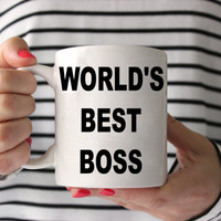 Coffee Mug - World's Best Boss Coffee Mug - Funny Coffee Mug - coffee lover Gift - Ceramic Mug - gift for boss - boss gift - coworker gift
