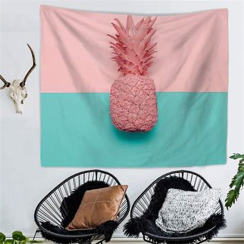 Pretty Pink Pineapple Wall Tapestry