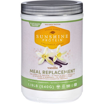 Sunshine Protein Meal Replacement - Plant-Based - Vanilla - 1.19 lb