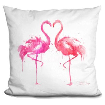 Flamingo Love Pillow