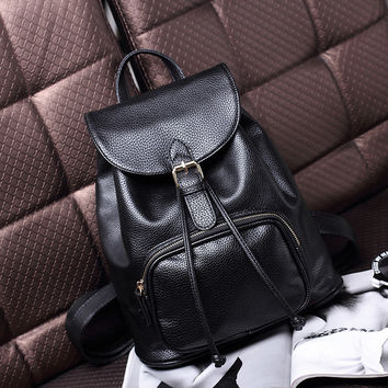 Stylish Back To School Hot Deal On Sale Comfort Casual College Winter Leather Backpack [6580873223]