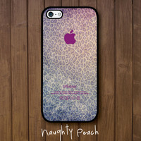 iPhone 5 Case - Leopard Fantazy TWO (Black case)