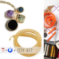 "Yoola ""Sapphire"" DIY Wire Crochet Kit - Potion and Tube, Tutorials and Supplies."