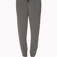 FOREVER 21 Boho Harem Pants Black/Cream