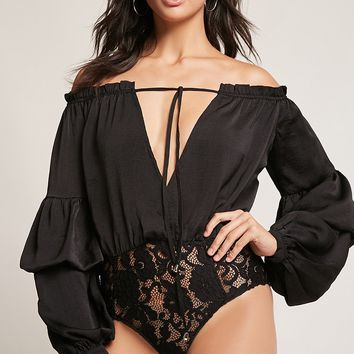 Selfie Leslie Off-The-Shoulder Bodysuit