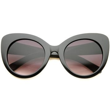 Women's Oversize Round Cat Eye Sunglasses A034