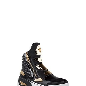 Versace - Techno gold panelled sneakers