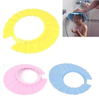 Baby Kids Children Shampoo Bath Shower Cap Hat Wash Hair Shield Soft AP = 1652344324