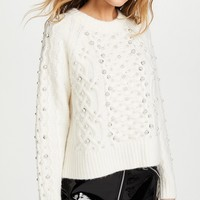 Rag & Bone Jemima Ivory Womens Sweater