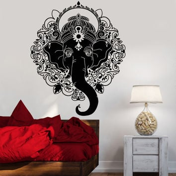 Vinyl Wall Decal India Ganesha Elephant God Hindu Hinduism Stickers Unique Gift (1291ig)