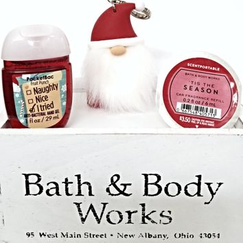 Bath and Body Works Tis the Season Scentportable, Pocketbac & Santa Holder