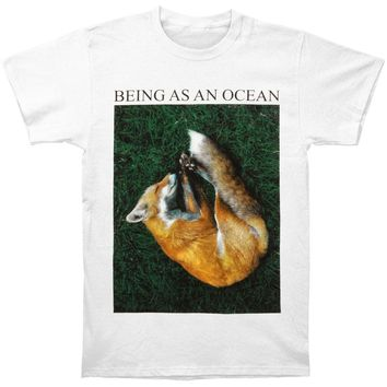 Being As An Ocean Men's  Sleeping Fox T-shirt White Rockabilia