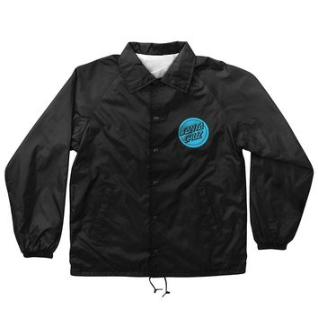 Santa Cruz Hand Coach Windbreaker Jacket Black - Pacific Wave Surf Shop
