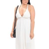 Ivory Festival Style Racerback Dress | $14.50 | Cheap Trendy Casual Dresses Chic Discount Fashion f