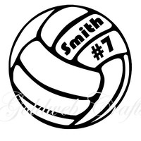 Personalized Volleyball Car Decal