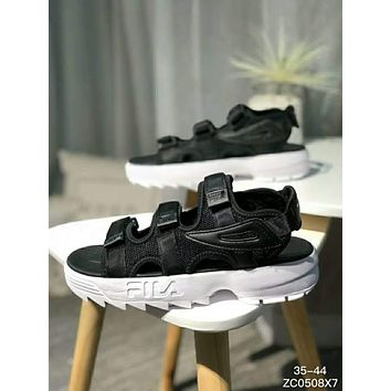"""FILA Disruptor 2"" Popular Women Men Summer Casual Beach Thick Bottom Magic Buckle Sandals Sneakers I-XYXY-FTQ"