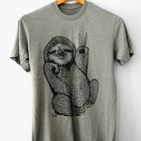 Peace Out Sloth Mens T-shirt