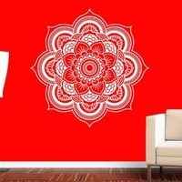 Vinyl Wall Decal Sticker Mandala Ornament Indidan Geometric Moroccan Yoga r587