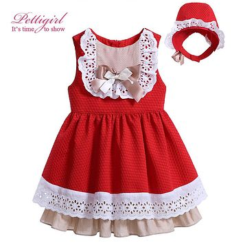 Pettigirl Toddler Girl Dress with Headband for Baby Girls Bow Party Dress Infant Summer Clothes Boutique G-DMGD906-797