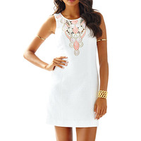 Logan Embroidered Shift Dress - Lilly Pulitzer