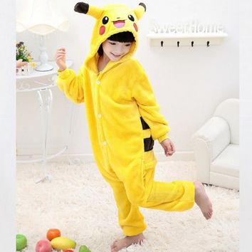 halloween costume for kids pokemon dinosaur coton for children girl costumes for boys child animals pikachu Onesuit pajamas