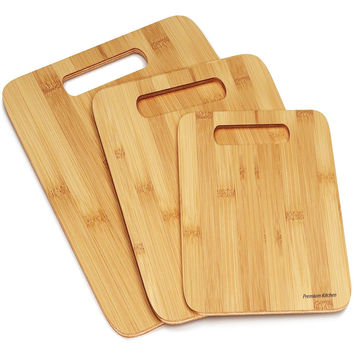 Best 3 Wood Cutting Boards -Premium Chopping Board Block -Large Medium Small ...