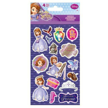 Disney Jr. Princess Sofia the First Gift Set for Kids - 1 Princess Sofia the First Cross-body Bag Tote Bag Purse, 1 Pack of Sofia Lip Balm PLUS 1 Pack Sofia the First Stickers (4 Sheets)
