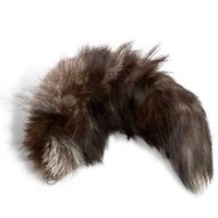 Silver Fox Tails with Ball Chain attached to Siver Fox Tail