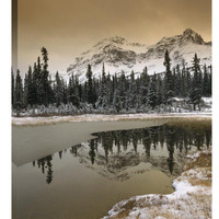 Inspirational Photo Canadian Rocky Mountains Dusted in Snow