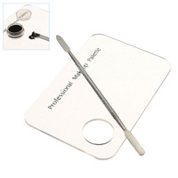 Makeup Nail Art Acrylic Stainless Steel Color Palette Makeup Tool Kits For Lipstick Shades Pigments Makeup Material
