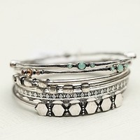 Free People Womens Electric Stone Hard Bangle Set -