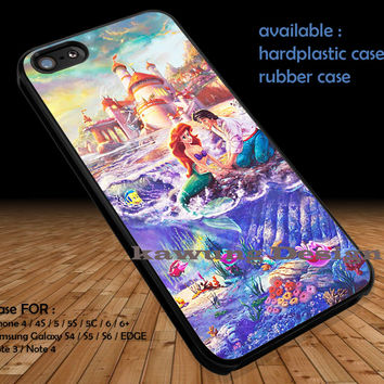Disney Ariel The Little Mermaid iPhone 6s 6 6s+ 5c 5s Cases Samsung Galaxy s5 s6 Edge+ NOTE 5 4 3 #cartoon #disney #animated #theLittleMermaid DOP315