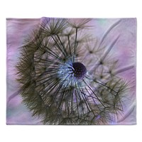 "Alison Coxon ""Dandelion Clock"" Fleece Throw Blanket"