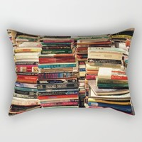 Books Rectangular Pillow by UMe Images