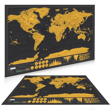 The Deluxe Scratch Off World Traveler Map Poster
