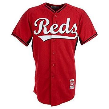 Cincinnati Reds Majestic Red BP Cool Base Authentic Performance Jersey (Adult 40)
