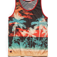 Tropical Sunset Linen-Blend Tank