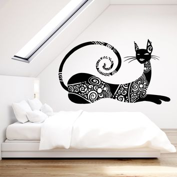Vinyl Wall Decal Abstract Sphynx Cat Art Decor Fashion Pet Tattoo Stickers Unique Gift (1827ig)