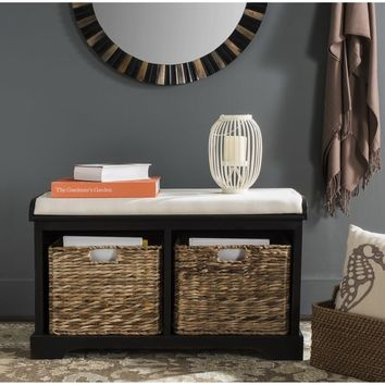 Safavieh Freddy Distressed Black Storage Bench | Overstock.com Shopping - The Best Deals on Benches