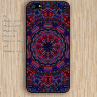 iPhone 5s 6 case red and blue mandala colorful phone case iphone case,ipod case,samsung galaxy case available plastic rubber case waterproof B338