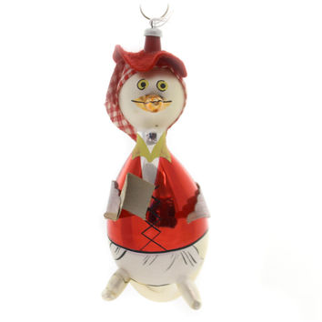 Holiday Ornaments MOTHER GOOSE Glass Ornament Italian Vintage Ta129